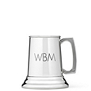 Engravable Pewter Mug with Glass Bottom