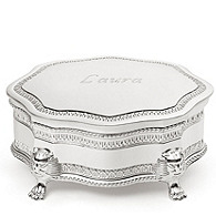 Silver-plated Princess Jewelry Box