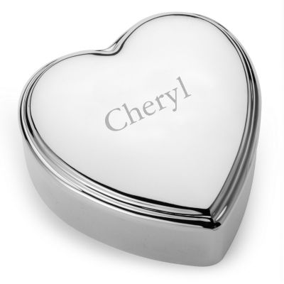 Silver-plated Heart Jewelry Box