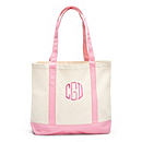 Personalized Canvas Tote - Light Pink