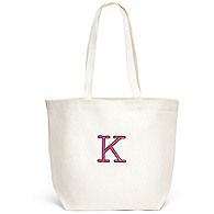 Canvas Initial Tote