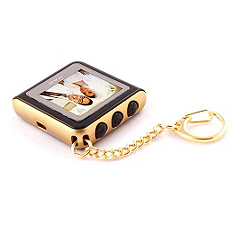 Digital Picture Keychain - Gold