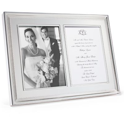 Vera Wang Grosgrain 5x7 Double Invitation Frame