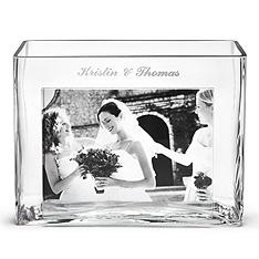 personalized glass photo vase