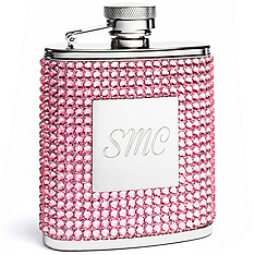 Pink Crystal Flask