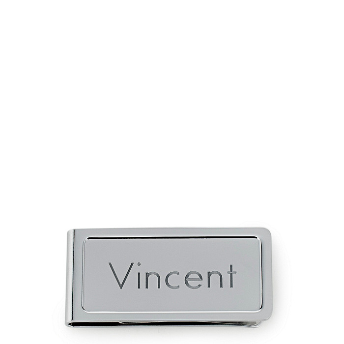Engravable Chrome Money Clip
