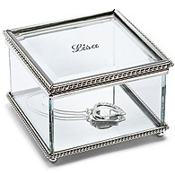Engravable Glass Jewelry Box