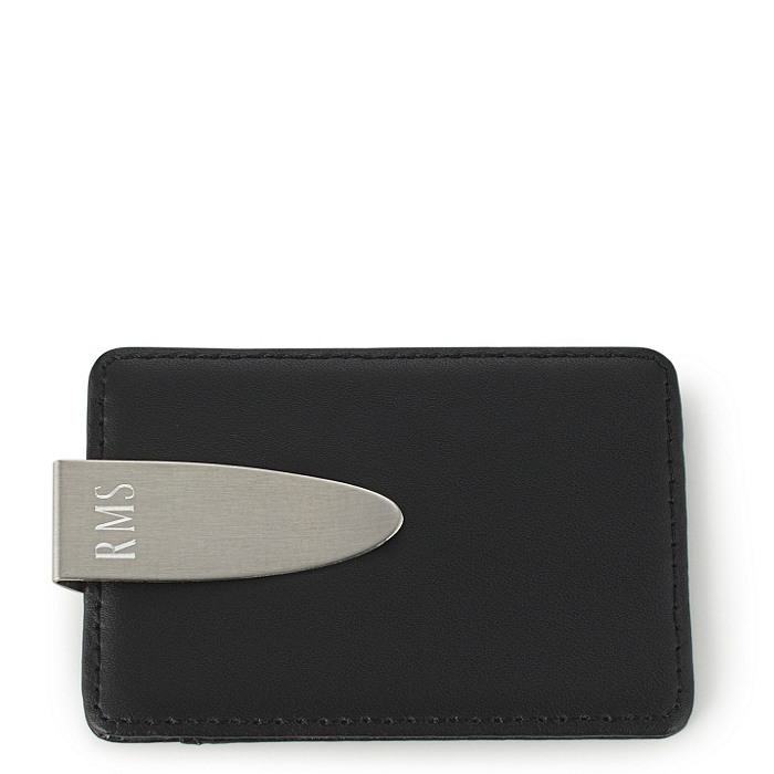 Leather Money Clip / Card Holder