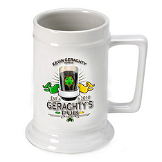 Personalized 16oz. Ceramic Beer Stein