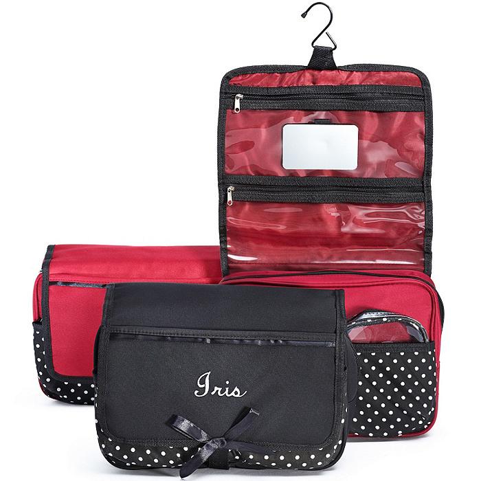 Polka Dot Travel Cosmetic Case