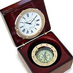rosewood compass clock