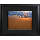 Personalized Beach Sand Writing Framed Print