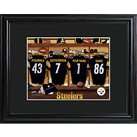 Personalized NFL Locker Room Framed Print