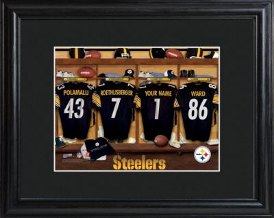 Personalized NFL Locker Room Framed Print