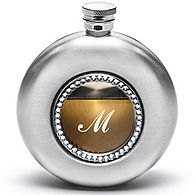 Round Flask with Crystals