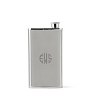 Stainless Flask & Cigar Holder