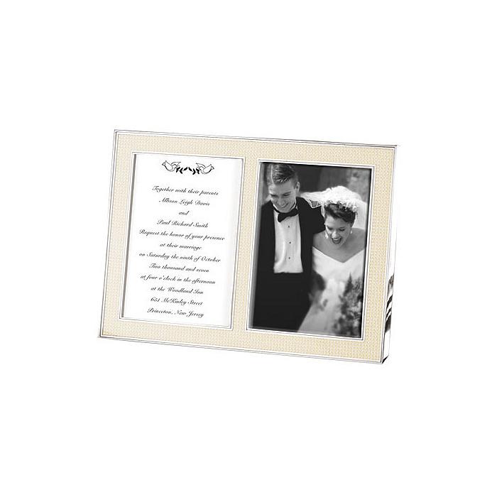 Lenox Jubilee Pearl Double Invitation Frame