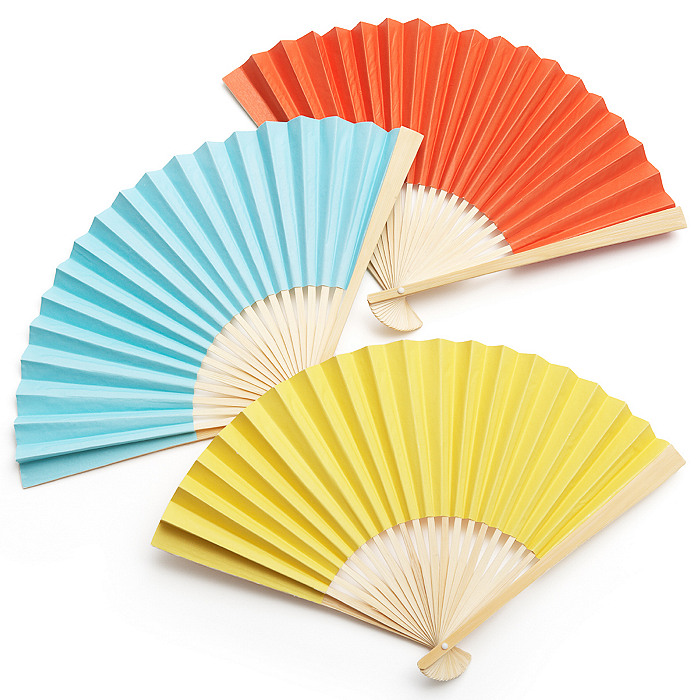 paper fans Provide your guests with beautiful and practical wedding favors with personalized custom hand fans from the paper lantern store.