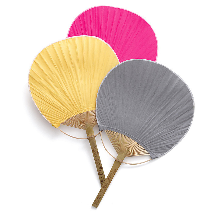 Wedding fans the knot shop for Wedding paddle fans