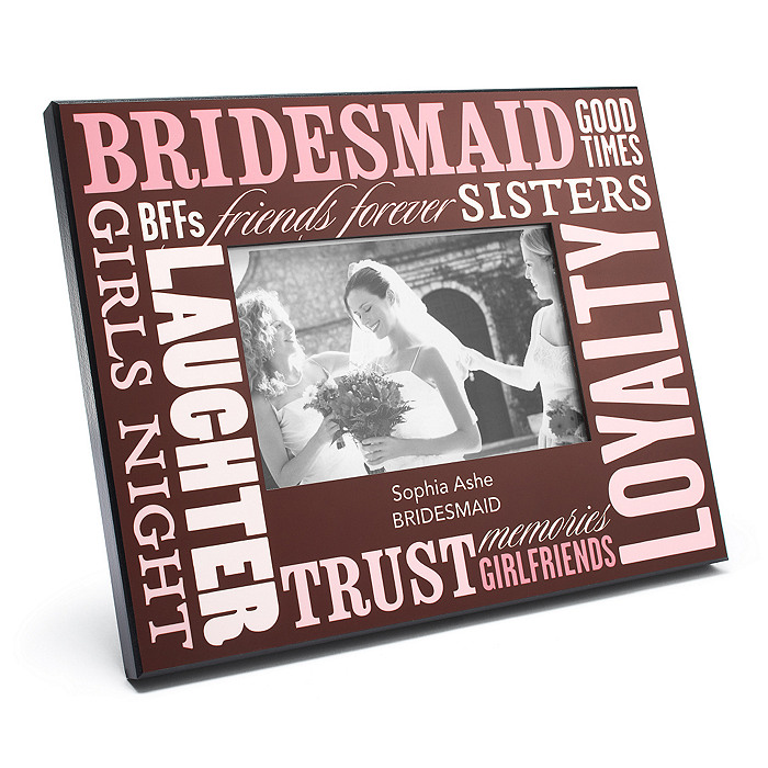 Personalized Bridesmaid Frame