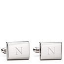 Brushed Rectangular Cuff Links