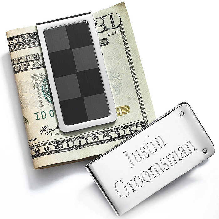 Checkered Money Clip
