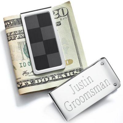 Checkered Money Clip