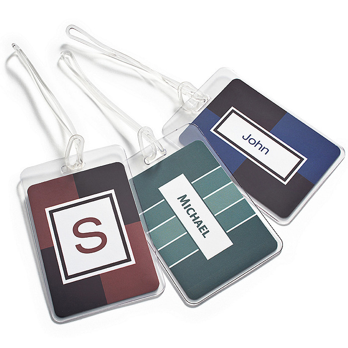 Personalized Luggage Tag - His