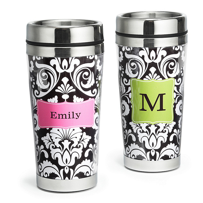 Damask Pattern Travel Mug