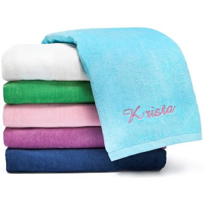 Personalized Deluxe Beach Towel - Solid