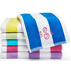 personalized deluxe beach towel - striped