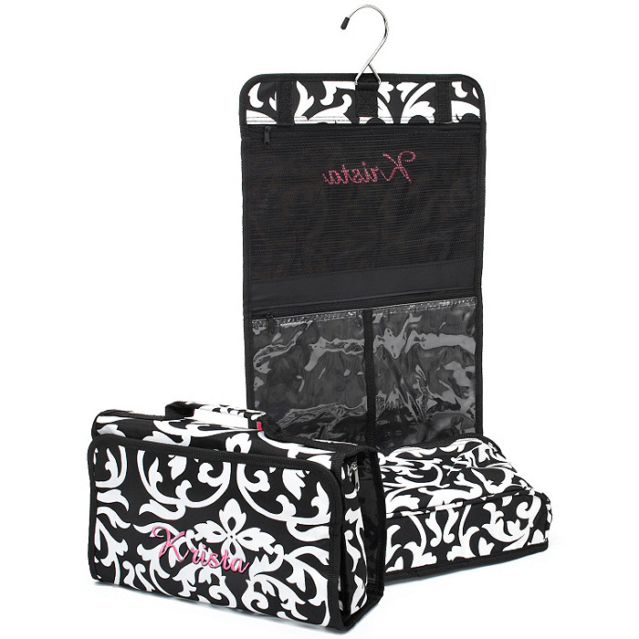Hanging Cosmetic Bag - Damask