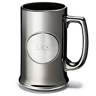 Pewter Medallion Gunmetal Beer Mug