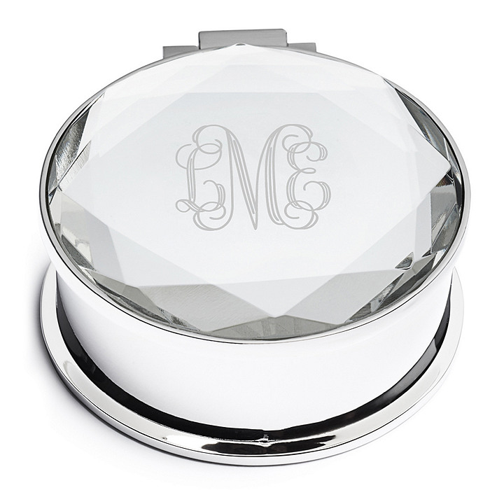 Round Mirrored Jewelry Box