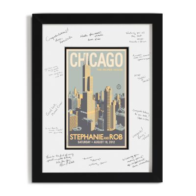 Personalized Guest Signature Frame - Chicago