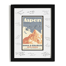Personalized Guest Signature Frame - Mountain