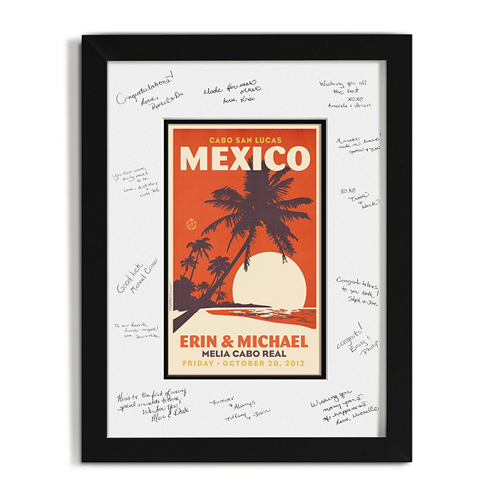 Personalized Guest Signature Frame - Palm Trees