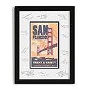 Personalized Guest Signature Frame - San Francisco