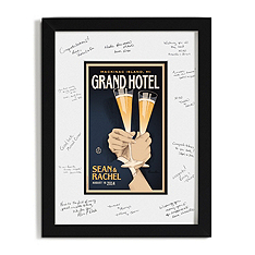 Personalized Guest Signature Frame - First Toast