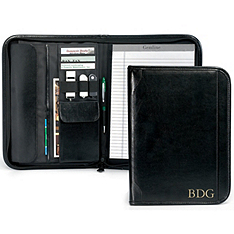 Leather Tablet Padfolio