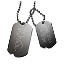 Men's Dog Tag Necklace - Gunmetal