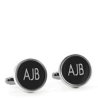 Round Black Cuff Links