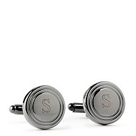 Round Gunmetal Cuff Links