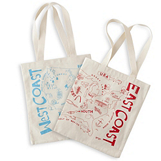 East Coast West Coast Canvas Tote