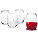 Engraved Stemless Wine Glass Set