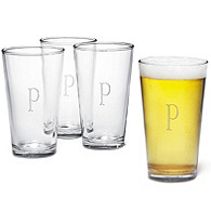 Engraved Pint Glass Set