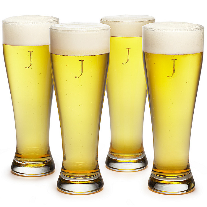 Engraved Large Pilsner Glass Set