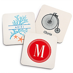 Personalized Hostess Coasters