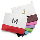Colorblock Zip Pouch