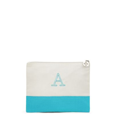 Colorblock Large Zip Pouch - Garden Collection